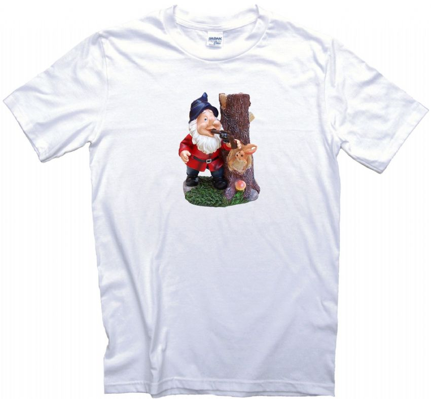Dead Gnome T-Shirt. Gents, Ladies & Kids Sizes. Suicidal Gnome